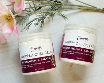 Whipped Curl Creme   Marshmallow & Babassu Natural Moisturizing Styling Cream