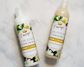 Jasmine & Bamboo Styling Set   Curl Elixir   Curl Potion