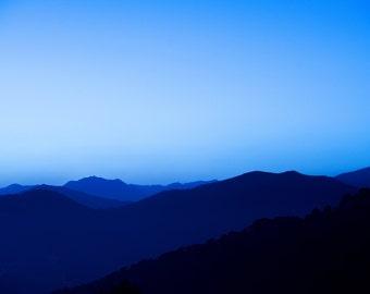 Monochrome blue