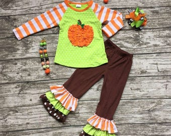 Boutique Fall Outfit- Pumpkin
