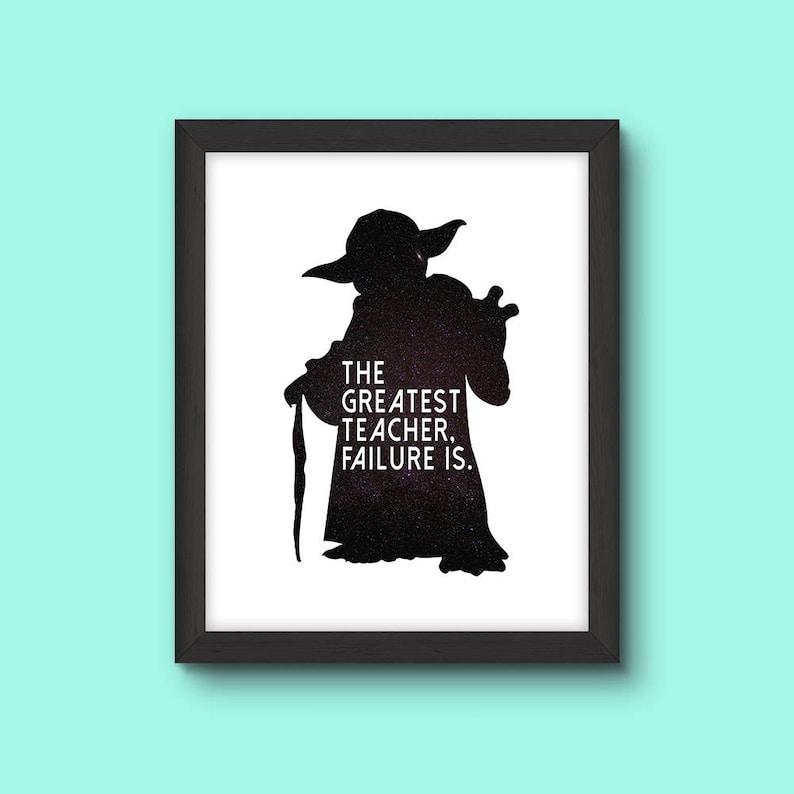 Yoda Star Wars Inspired Printable The Greatest Teacher Etsy