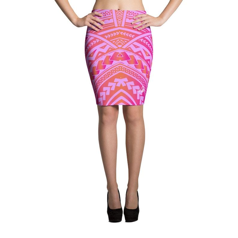 53e00c103d Sassy Sina Lavender Pencil Skirt Womens Samoa Print Elei