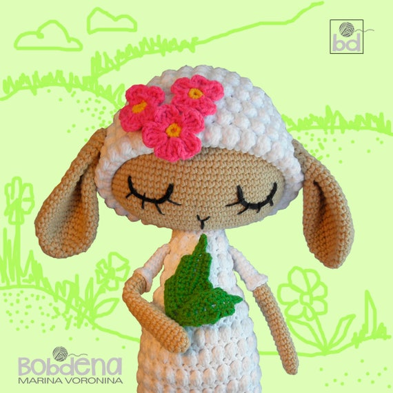 Amigurumi Crochet Pattern Sheep Lamb Crochet Tutorial Pdf Etsy