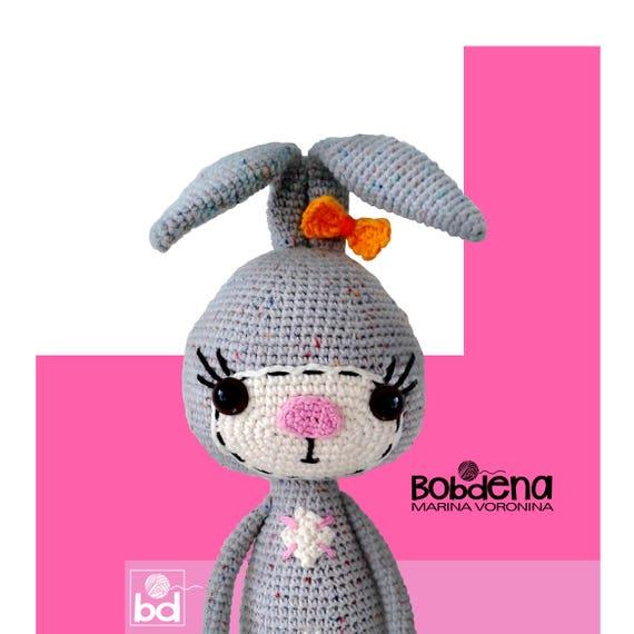 Bunny Amigurumi Crochet Pattern Softie Rabbit Crochet Pdf Etsy