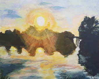 River Thames sunset