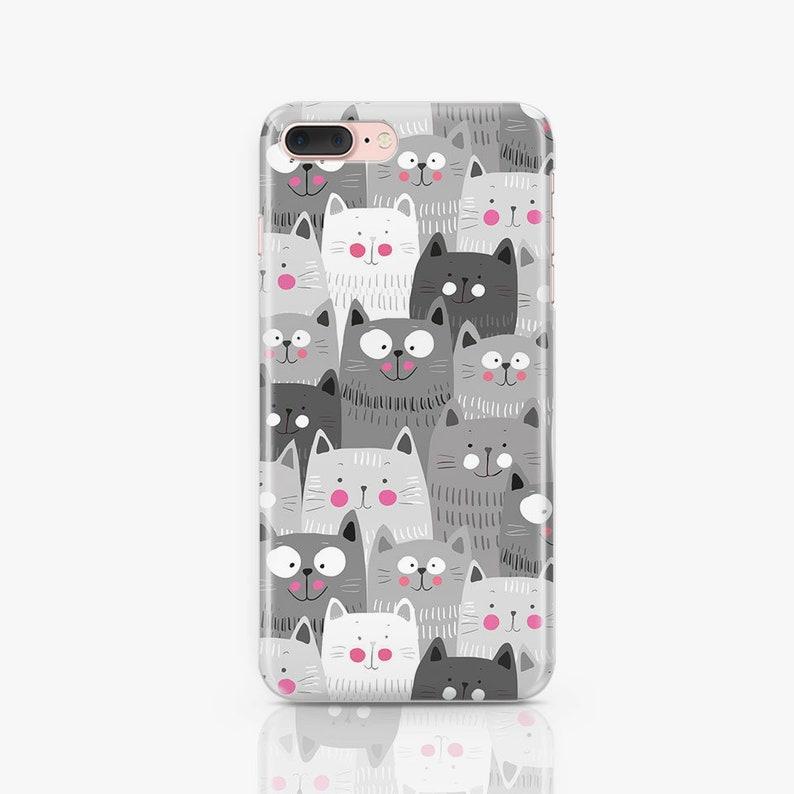 Cats iPhone 8 Plus Case Samsung Galaxy S7 Case iPhone X Case image 0