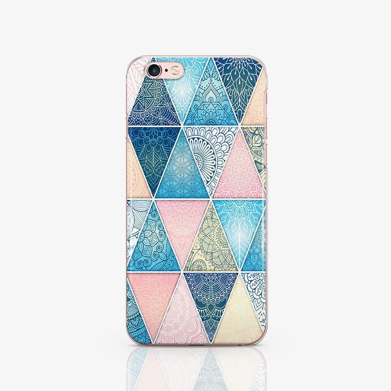Pink Geometry Phone 7 Case Clear Phone 7 Plus Case iPhone image 0