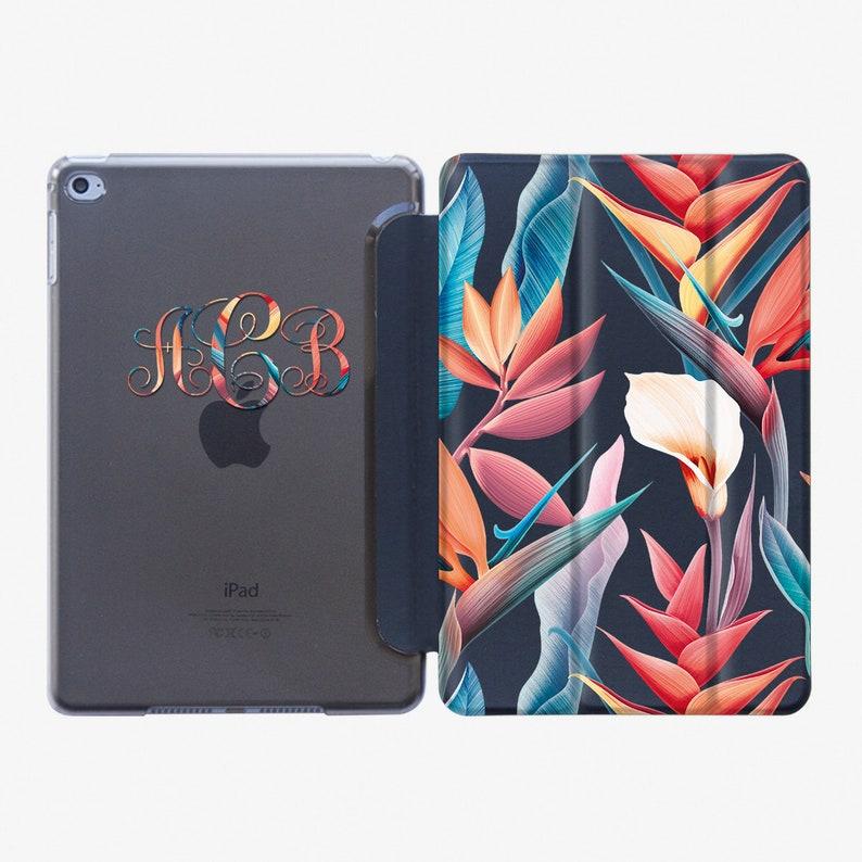 Floral Case Smart Cover iPad Air 3 2019 Case iPad Pro 10.5 image 0