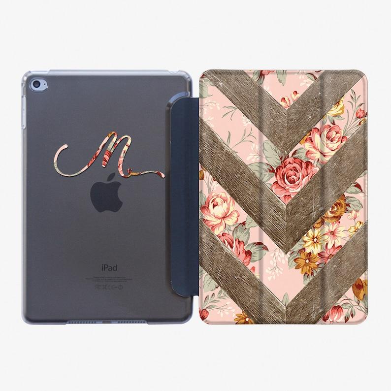 the latest 5a4a1 68940 Monogram iPad Air 3 2019 iPad 6 Smart Cover Custom iPad Pro 12.9 2018 Case  iPad Mini 5 Case iPad 9.7 2018 Case iPad 5 Case Flower AC5010