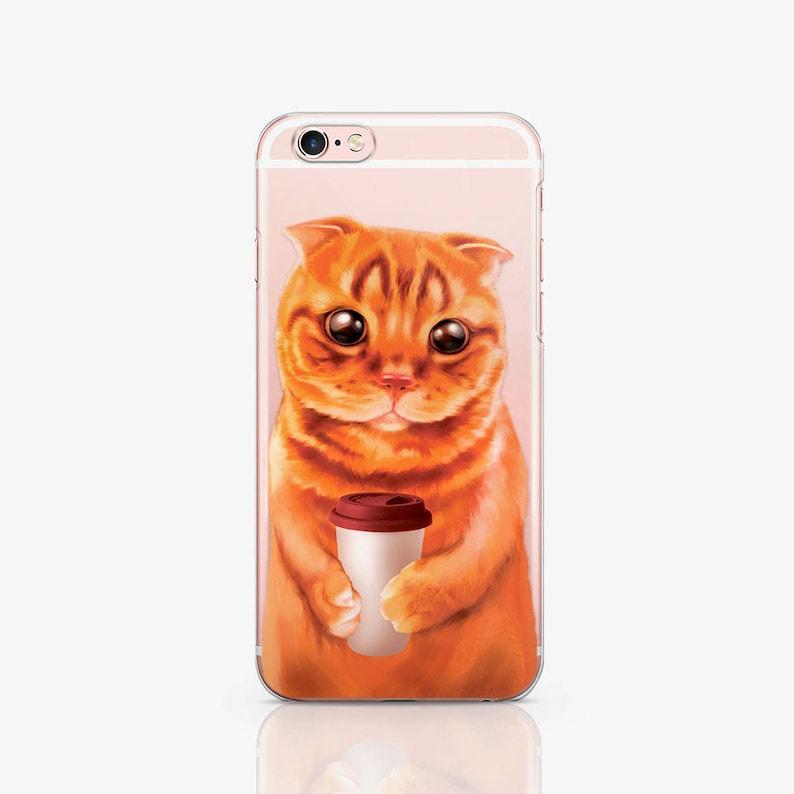 Cat Case Samsung S8 Case Clear iPhone X iPhone 7 Plus Case image 0