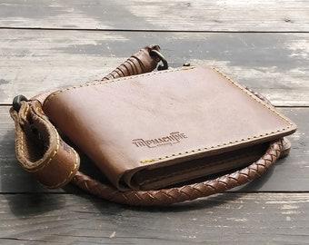 "Bifold Leather Wallet for Guitarists - Vintage Tan ""Trigger"""