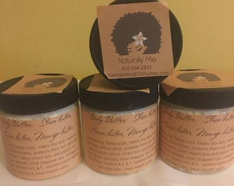 Whipped Body butter 2 oz, 4 oz, 8 oz and 16 oz.  made w/ Shea, Mango, Cocoa Butters