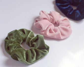 Kit Tres Hair Bands, scrunchies, Velvet, elastico, velvet hair srunchie, 80s style, 90s, fashion, trend