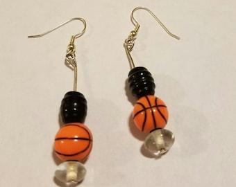 Sports theme earrings!!