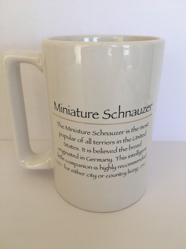 description Beautiful vintage Rosalinde Porcelain USA Vladimir Miniature Schnauzer image 4 58 high mug displayed only
