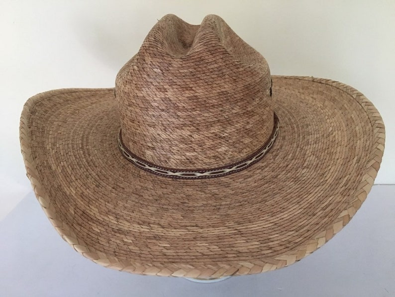 2fbc595be0317 Quality vintage Atwood handmade long oval wide brim cowboy