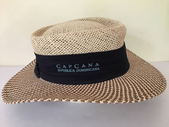 283e28ba4b7 Vintage AHead panama woven straw hat unisex adult size M L
