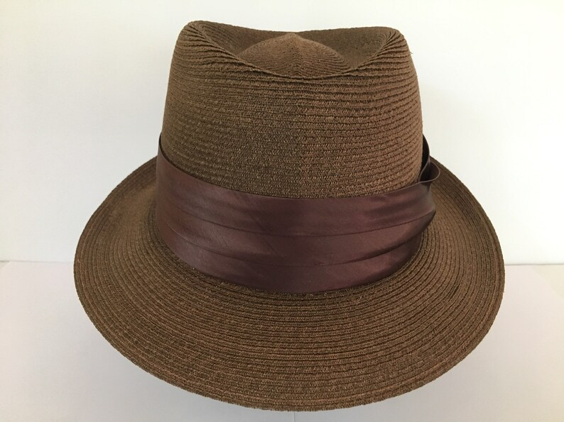 d503c5c2397db Quality vintage Stetson handmade brown finely woven brown