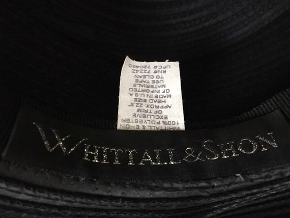 13f14ba1d99 Vintage 5 brim Whittall   Shon black hat Rhinestones