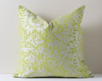 Green Grey Silver Pillow The Lively Pillow Cover Embroidered Floral Decorative Pillow Covers Metallic Finish Cushion Home Decor 18x18 20x20