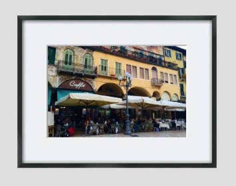 Italy Photography Travel Photograph Unframed Photo Print Verona Cafes Print