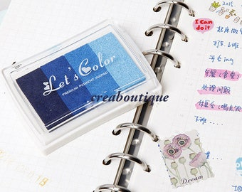 Ink Pads/Rubber Stamp/ scrapbooking/Blue gradient/ink 4 colors