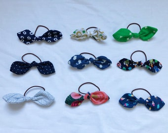 Ponytail Holder/Hair Ties - Matching Patterns with Bandanas and Bow Ties