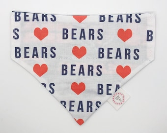 Dog Bandana - Chicago Bears // Dog bandana // Pet Bandana //Bear Down Dog Bandana // NFL Dog Bandana // Bears Dog Bandana