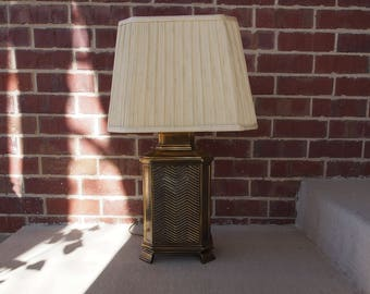 Vintage Brass Chevron Lamp