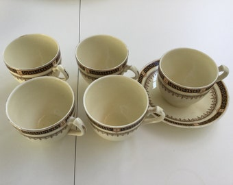 Wedgwood classic tea cups (5) and saucer (1)