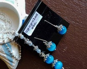 Mexican Blue Opal , Blue Lace Agate Jewelry Set