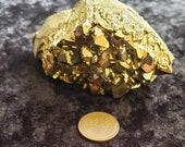 Gold Aura Amethyst Cluster