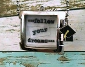 Follow Your Dreams Vintage Watch Face Graduation Necklace