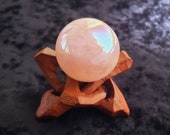 Angel Aura Rose Quartz Sphere with Stand