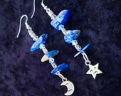 Genuine Lapis Lazuli Gemstone Earrings