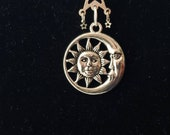 Celestial Sun and Moon Necklace