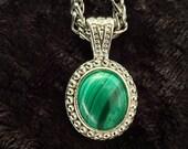 Malachite Gemstone Pendant Necklace