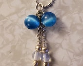 Mexican Blue Opal and Moonstone Necklace
