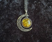 Crescent Moon, Tree of Life Necklace