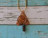 Custom Copper and Round Copper Charm, Necklace