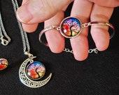 Moonflower Tree Necklace. New Price.