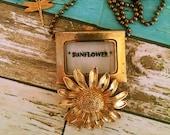 Sunflower Watch Pendant
