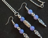Angelite Jewelry Set, Earrings and Necklace