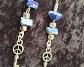 "Genuine ""Blue Denim"" Lapis Lazuli Earrings"