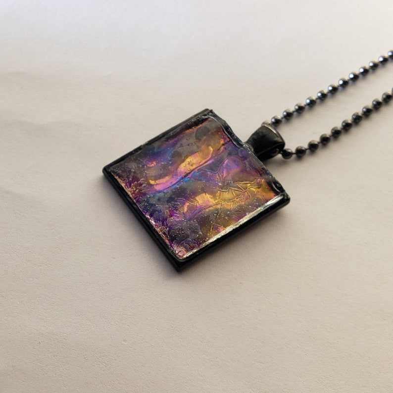 Handmade Mosaic Tile Necklace. image 0