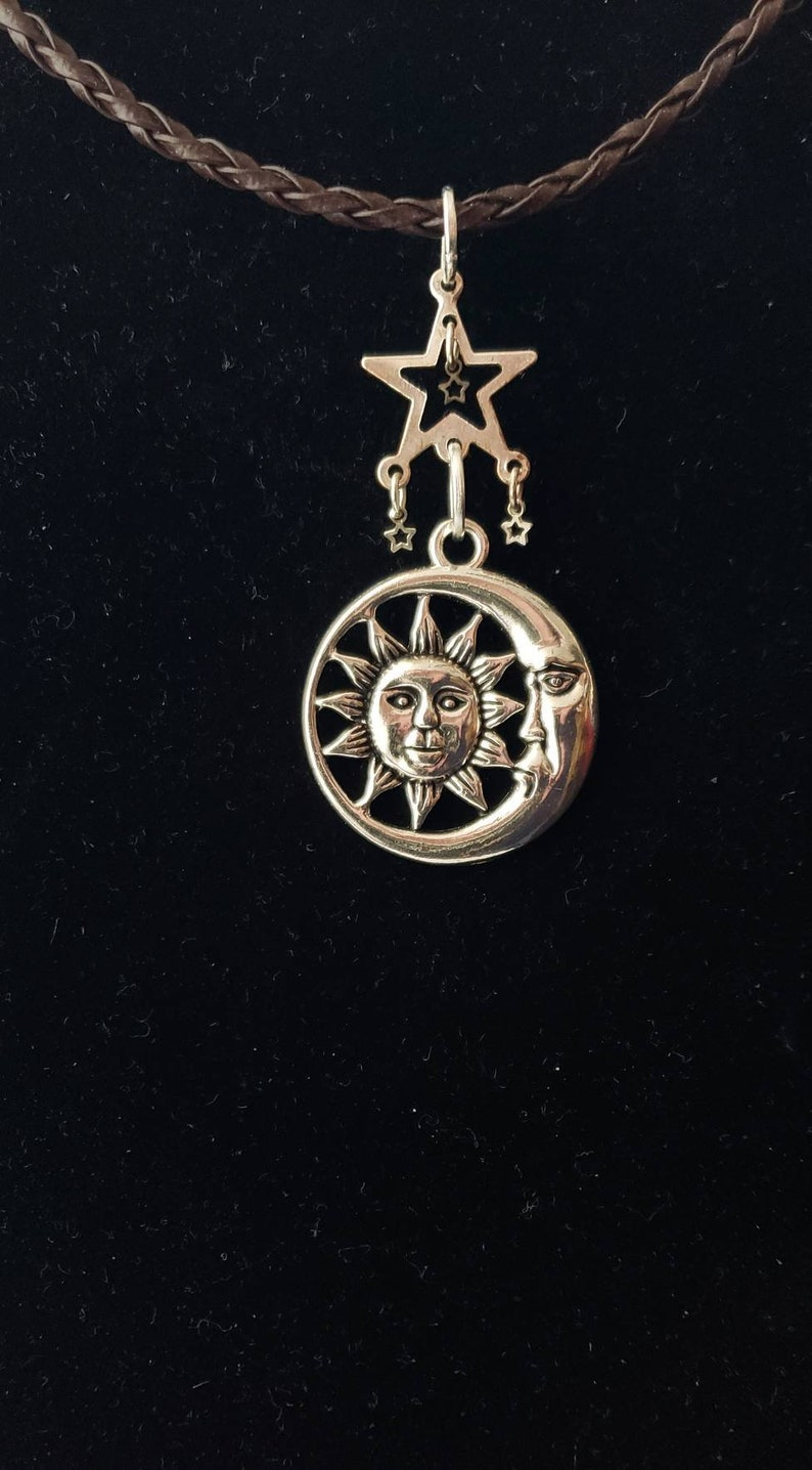 Celestial Sun and Moon Necklace image 0