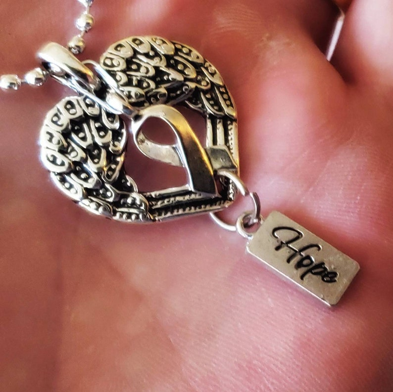 Silver Heart Hope Pendant Necklace image 0