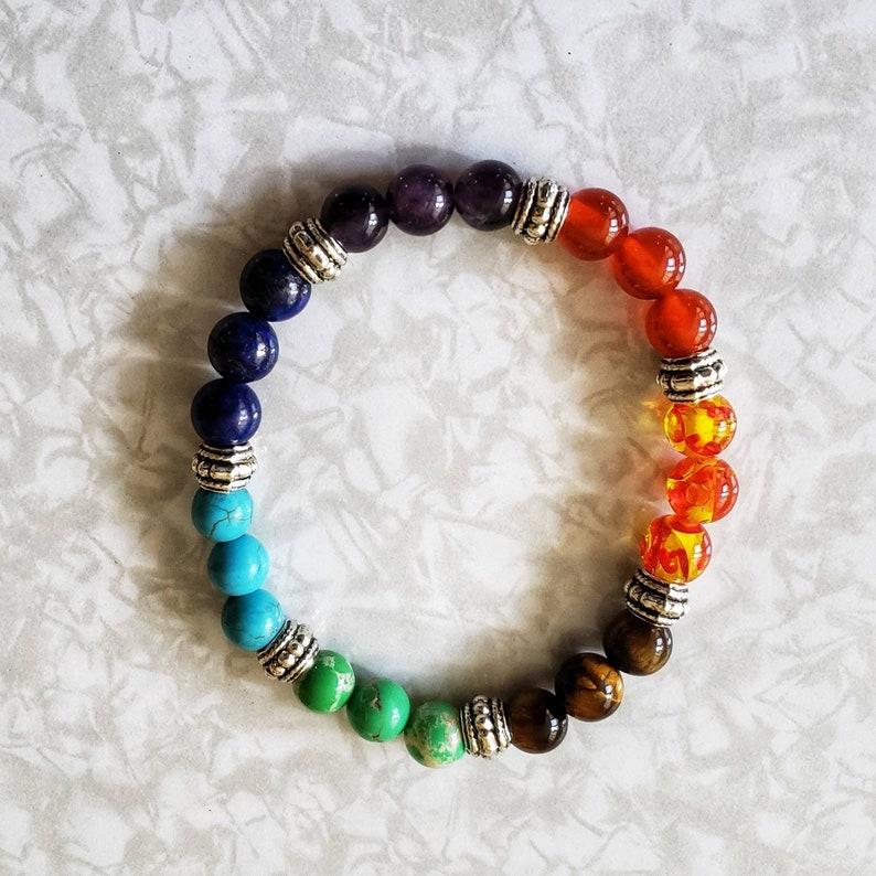 Chakra Bead Bracelet image 0