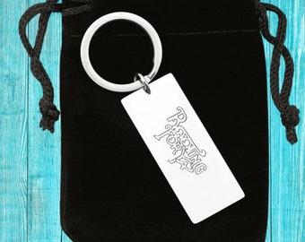 Custom Valentine's Day Gift, Custom Key Chain For Women, Engraved Keychain for Men, Personalized Gift for Boyfriend, Valentine Gift For Her