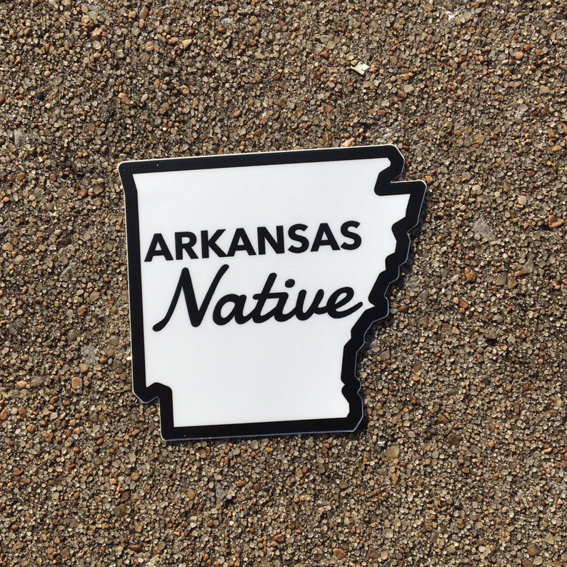 Arkansas Sticker Die Cut State Stickers/Waterproof Decal For image 0